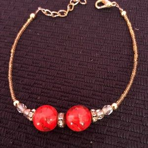 Italian bracelet-red color